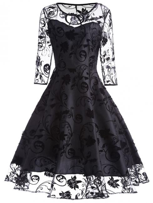 Schwarze Abendkleider Kurz | Cocktailkleider mit Spitze