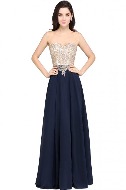 Designer Abendkleider Lang   Abiballkleider Günstig Dunkel Blau