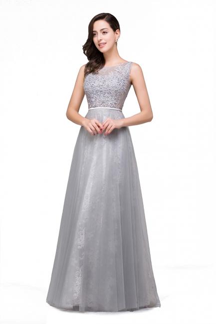 Silber Abendkleider Lang Günstig | Abiballkleider mit Spitze