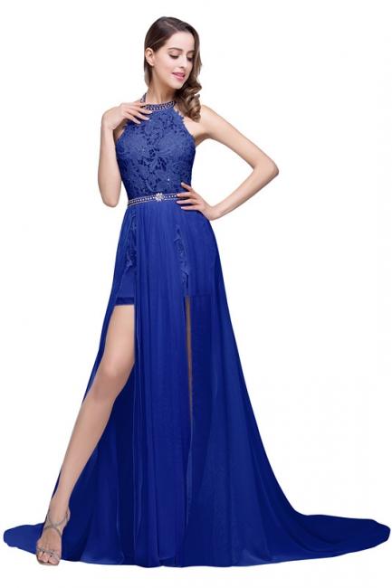 König Blaue Abendkleider Lang Günstig | Abiballkleider Mit Spitze