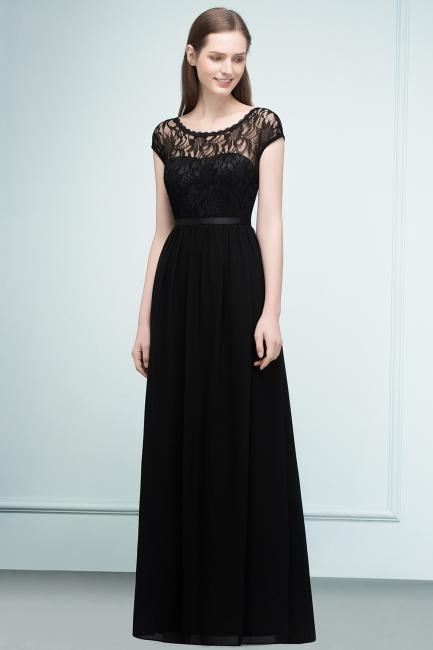 Schlichtes Abendkleid Lang Schwarz   Abiballkleider online