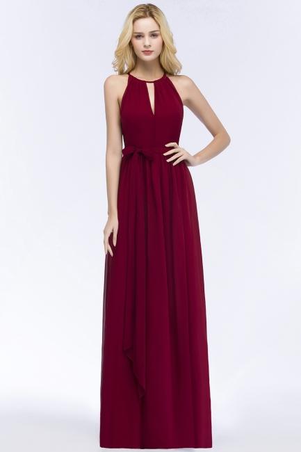 Schlichtes Abendkleid Weinrot | Abiballkleider Lang Günstig