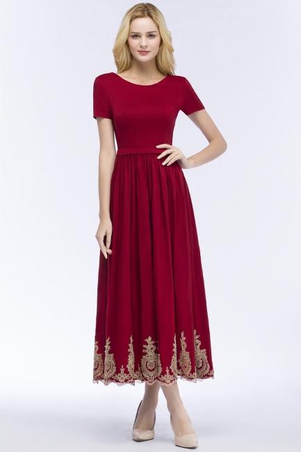 Rote Abendkleider Kurz   Cocktailkleider mit Ärmel