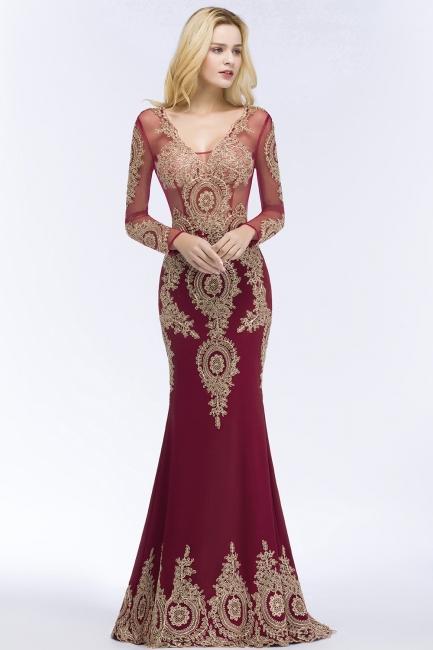 Schöne Abendkleider Mit Ärmel | Rote Abiballkleider Lang