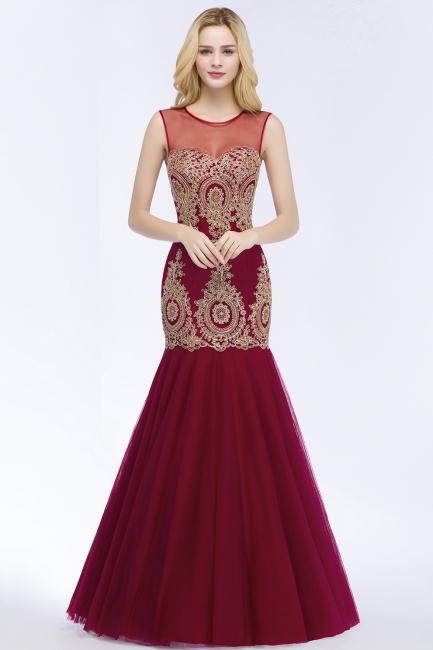 Weinrot Abendkleider Lang Günstig | Abiballkleider Online Kaufen