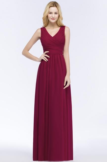 Schlichtes Abendkleid Rot   Abiballkleider Lang Günstig