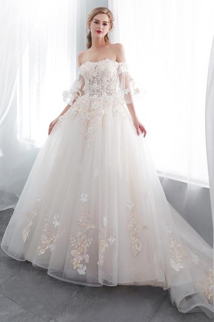 Hochzeitskleider Prinzessin Luxus   Brautkleider mit Ärmel