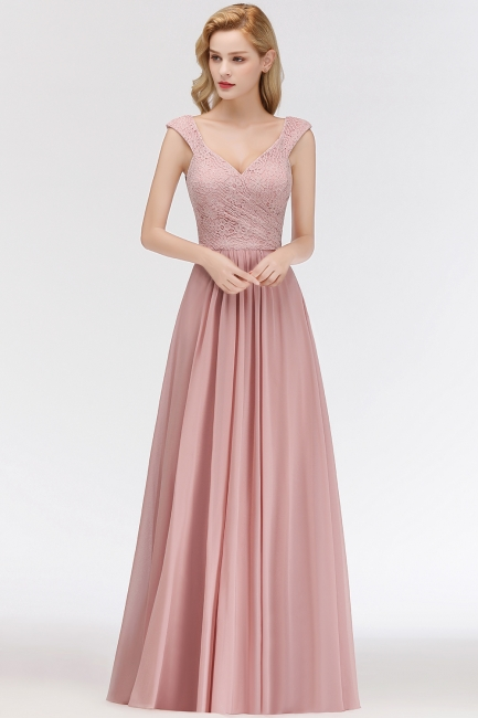 Rosa Abendkleider Mit Spitze | Abiballkleider Alterrosa