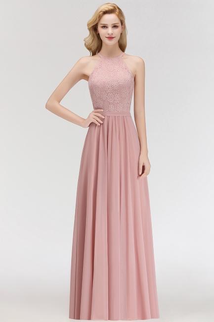 Sexy Abendkleid Lang Rosa | Chiffon Kleider Partykleider