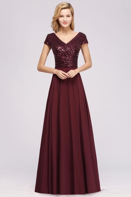 Brautjungfernkleider Lang Günstig | Hochzeitspartykleider Abendkleid Glitzer