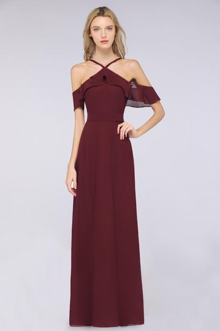 Weinrote Abendkleider Lang Günstig | Brautjungfernkleider Online Kaufen