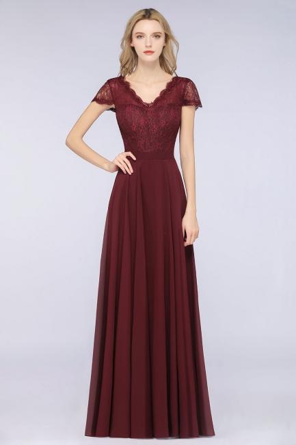 Schöne Brautjungfernkleider Lang Günstig | Chiffon Kleider Abendmoden