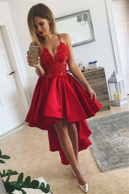 Rote Cocktailkleider Kurz Lang   Abiballkleider Günstig Online