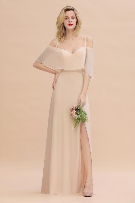Elegante Brautjungfernkleider Champagne | Kleider für Brautjungfern
