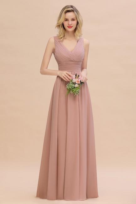 Günstige Brautjungfernkleider Altrosa | Chiffon Kleider Abendmoden Online
