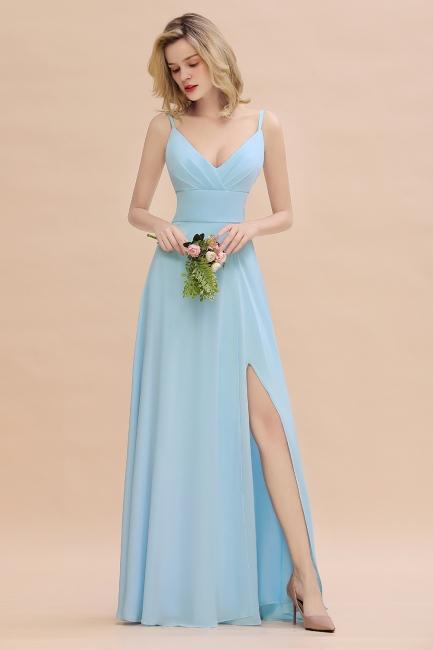Brautjungfernkleider Blau   Chiffon Kleider Für Brautjungfern