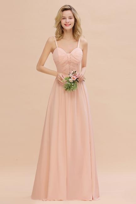 Brautjungfernkleider Lang Rosa   Chiffon Kleider Günstig Online