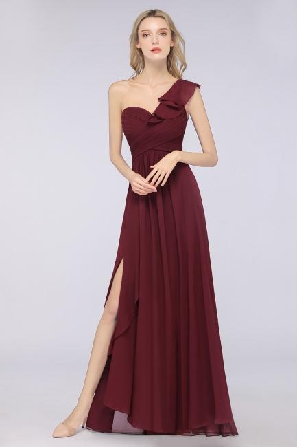 Elegante Brautjungfernkleider Weinrot | Chiffon Kleider Günstig