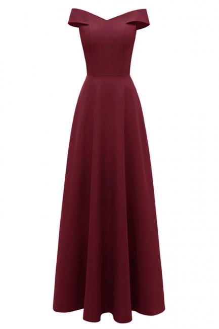 Rote Abendkleider Lang Schlicht | Vintage Abiballkleid Online
