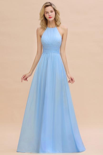 Blaues Brautjungfernkleid Chiffon | Brautjungfernkleider Lang Günstig