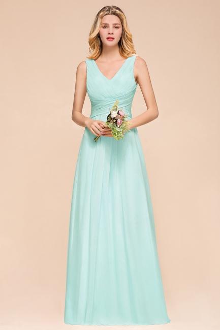 Mint Brautjungfernkleider   Bridesmaid Dresses Lang Chiffon
