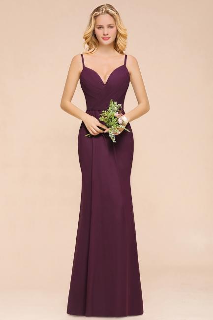 Grape Brautjungfernkleider Satin | Brautjungfernkleid Lang Günstig