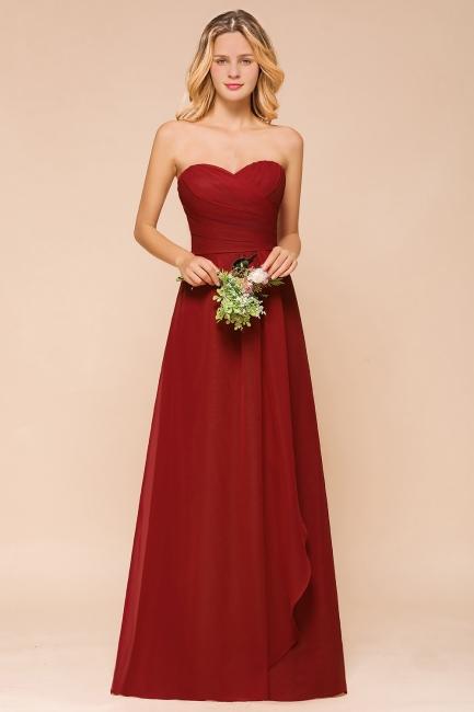 Rotes Brautjungfernkleid Günstig   Lange Brautjungfernkleider Chiffon