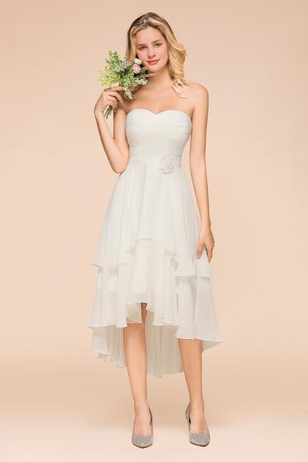 Weiße Brautjungfernkleider Kurz | Brautmutterkleid Günstig