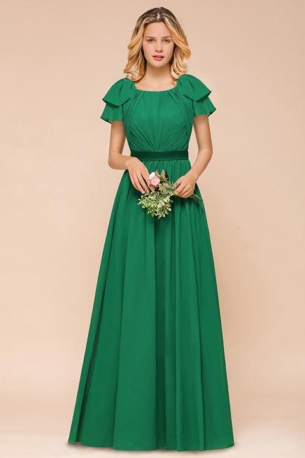 Grünes Brautjungfernkleid Günstig   Brautjungfernkleider Lang Chiffon