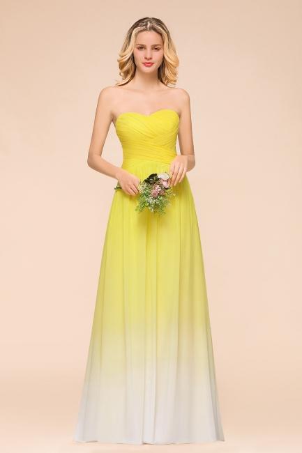 Gelb Brautjungfernkleider Chiffon | Schöne Kleider Brautjungfer
