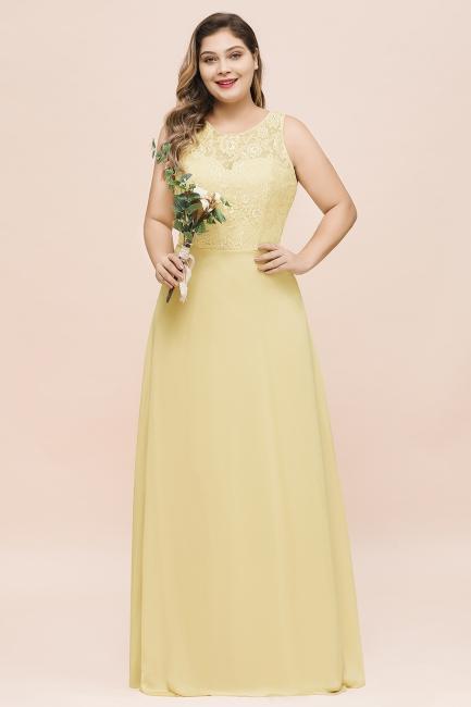 Gelb Brautjungfernkleider Große Größe | Chiffon Kleider Günstig