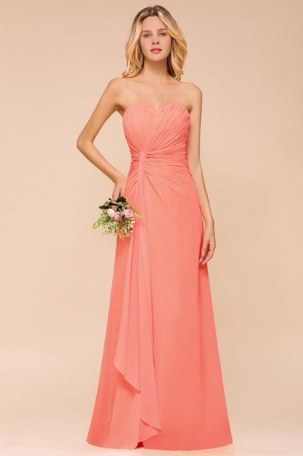 Brautjungfernkleider Lang Günstig   Orange Abendmoden Online