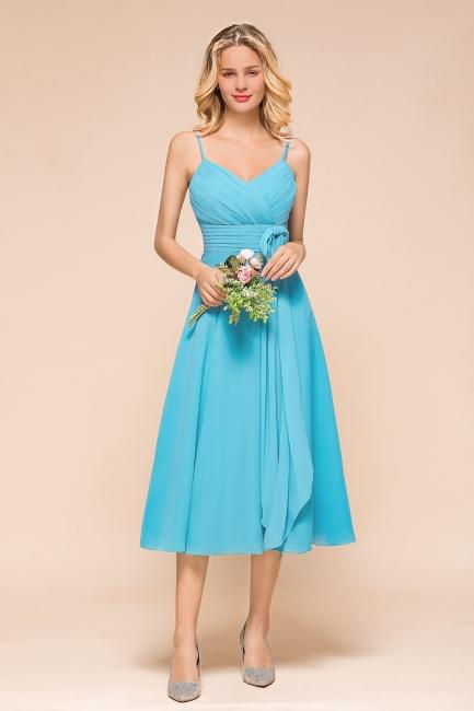 Chiffon Brautjungfernkleider Kurz | Blaue Kleider Für Brautjungfern