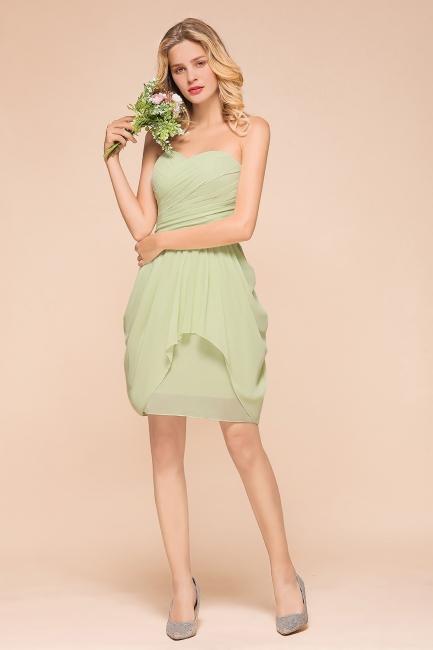 Brautjungfernkleider Kurz Mint | Hochzeitspartykleider Chiffon Günstig