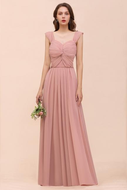 Elegante Brautjungfernkleider Altrosa | Chiffon Kleider Für Brautjungfern