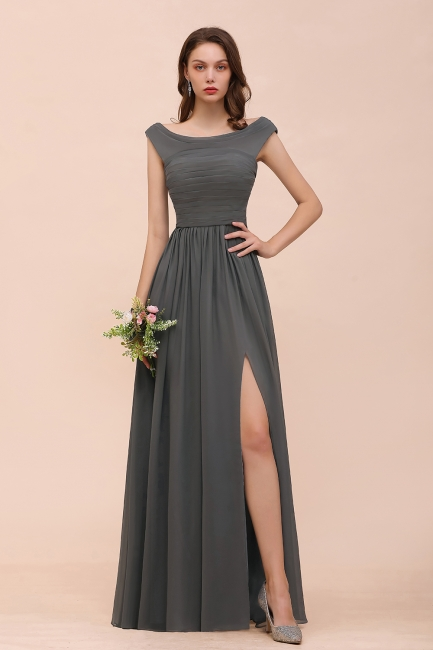 Brautjungfernkleider Lang Grau | Kleider Für Brautjungfern Online