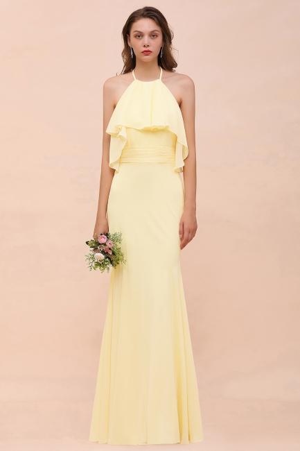 Gelb Brautjungfernkleider Günstig | Brautjungfernkleid Lang Online