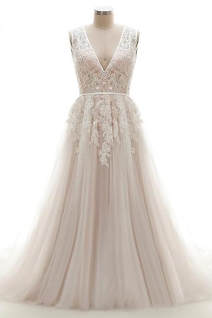 Brautkleider A Linie V Ausschnitt | hochzeitskleid standesamt
