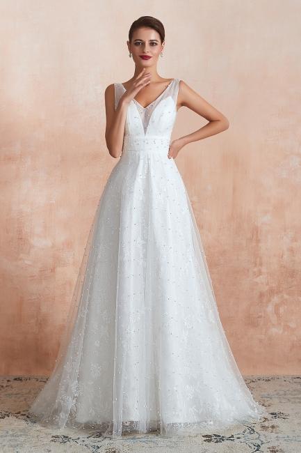 Schöne Hochzeitskleider A linie | Standesamt Brautkleid Tüll