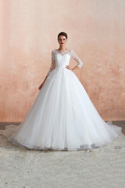 Modern Brautkleid Mit Ärmel   Standesamt Kleid Hochzeitskleider
