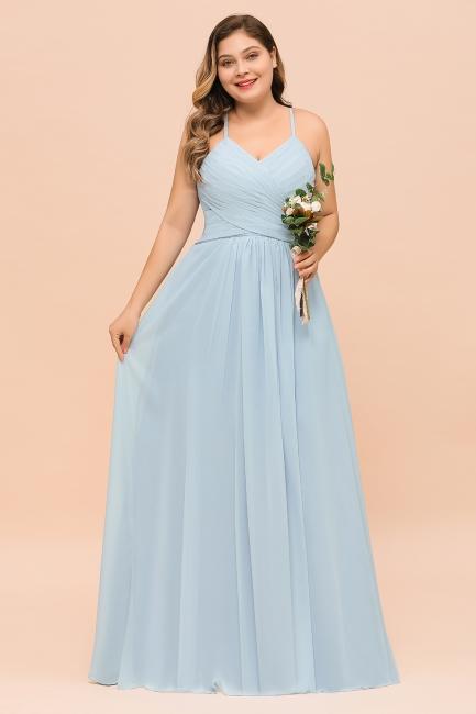 Brautjungfernkleider Große Größe   Brautjungfernkleid Lang Heller Blau