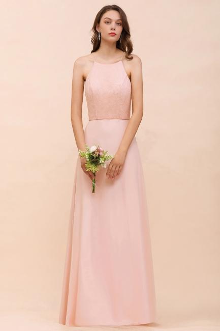 Schöne Brautjungfernkleider Lang Rosa | Hochzeitspartykleider Günstig