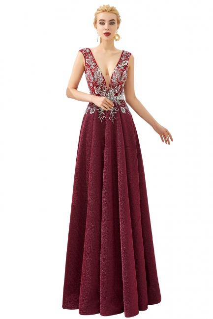 Schlichte Abendkleider Lang Rot | Abiballkleider Online