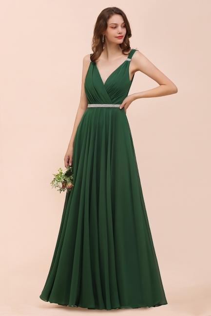 Grüne Brautjungfernkleider Günstig | Chiffon Kleider Abendmoden Lang