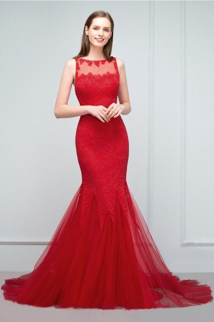 Rote Abendkleider mit Spitze | Abiballkleider Lang Günstig