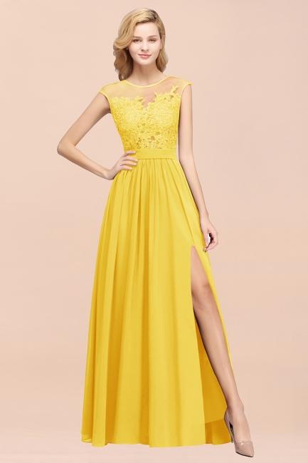 Gelb Brautjungfernkleider Lang   Kleider für Brautjungfern
