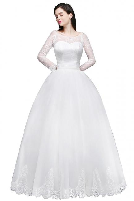 Schlichtes Hochzeitskleid mit Spitze | Prinzessin Brautkleider