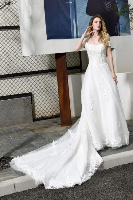 Schlichte Brautkleid A Linie   hochzeitskleider standesamt