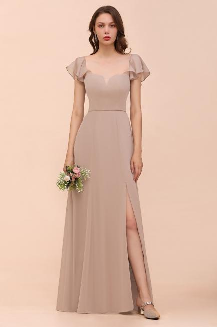 Champagne Brautjungfernkleider Lang Günstig | Abendoden Online