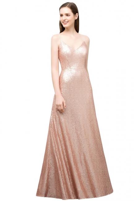 Rosa Gold Abendkleider Lang | Brautjungfernkleider Online